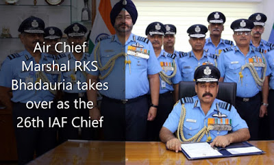 Air Chief Marshal RKS Bhadauria takes over as the 26th IAF Chief