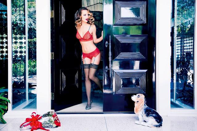 Hannah Ferguson poses for Triumph Lingerie Spring/Summer 2016 Campaign