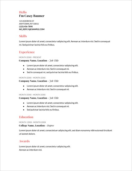 Template Riwayat Hidup Format Microsoft Office Word Versi 17