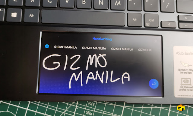 Asus ZenBook 14 ScreenPad handwriting gizmo manila.jpg