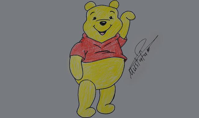 تعلم رسم ويني الدبدوب