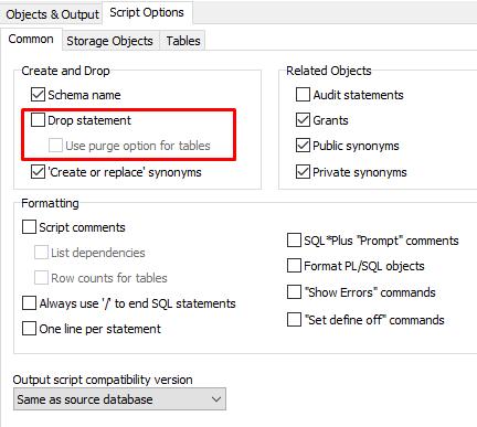 Oracle Database ile Yapılmış Bir Projenin Kurulum (Delta) Scriptlerini Oluşturmak