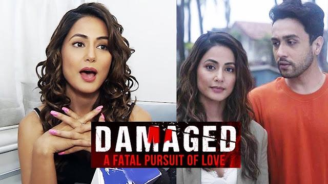 Damaged 2 : Kasauti Zindagi Ki 2 fame Hina Khan shares Damaged 2 glimpse with actor Adhyayan Suman