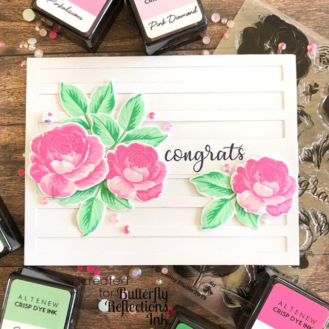 Sunny Studio Stamps: Everything's Rosy Customer Card by Dana Kirby