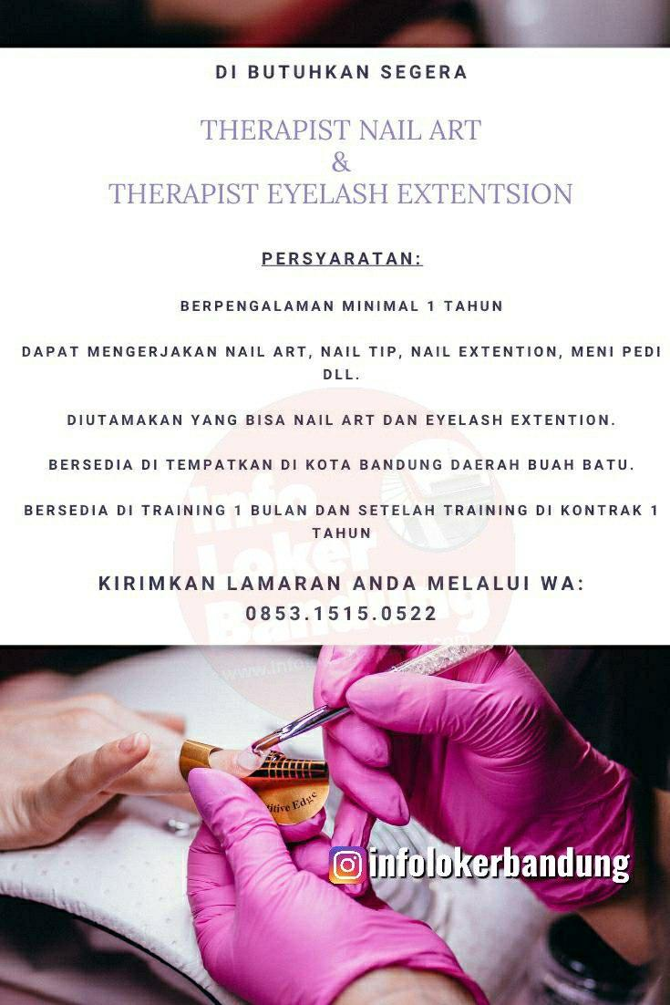 Lowongan Kerja Therapist Nairart & Therapist Eyelash Extension Fruitwax Bandung Mei 2020