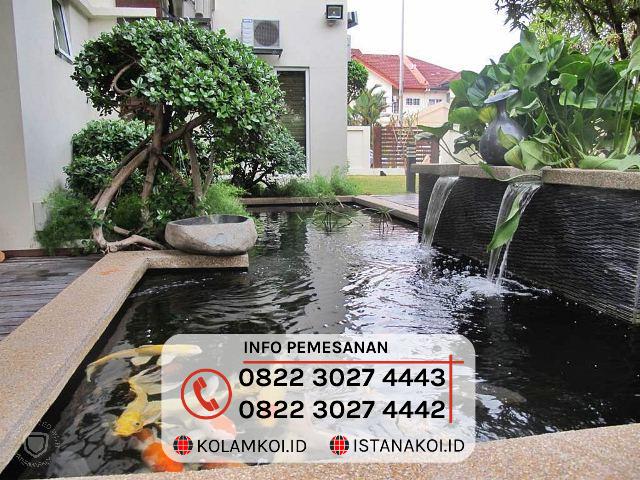 Kolam Ikan Koi Sederhana Design Minimalis di Sukabumi
