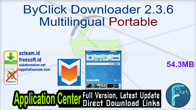 ByClick Downloader 2.3.6 Multilingual Portable