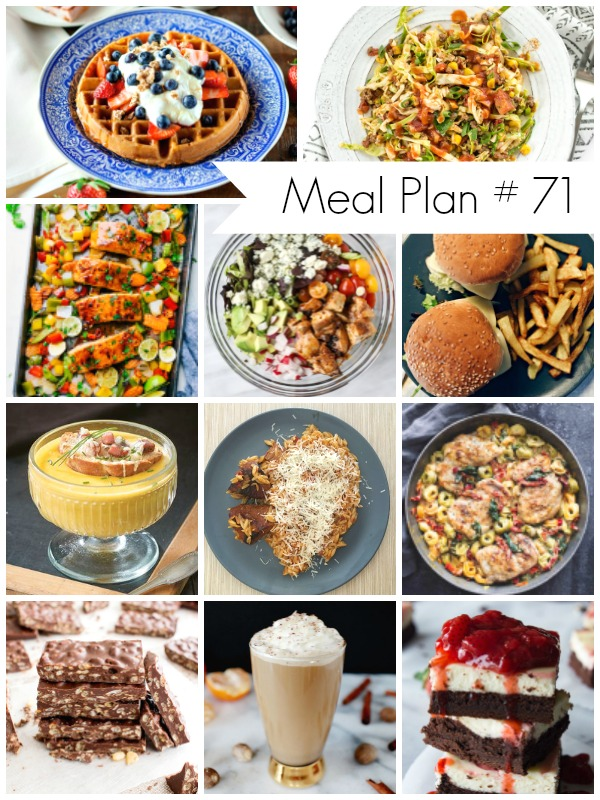 Delicious weekly meal plan to help you plan out your week of meals - Ioanna's Notebook