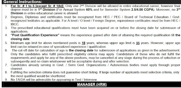 General instructions for Assistant Manager (Electrical/Electronic) Atomic Energy Jobs 2020