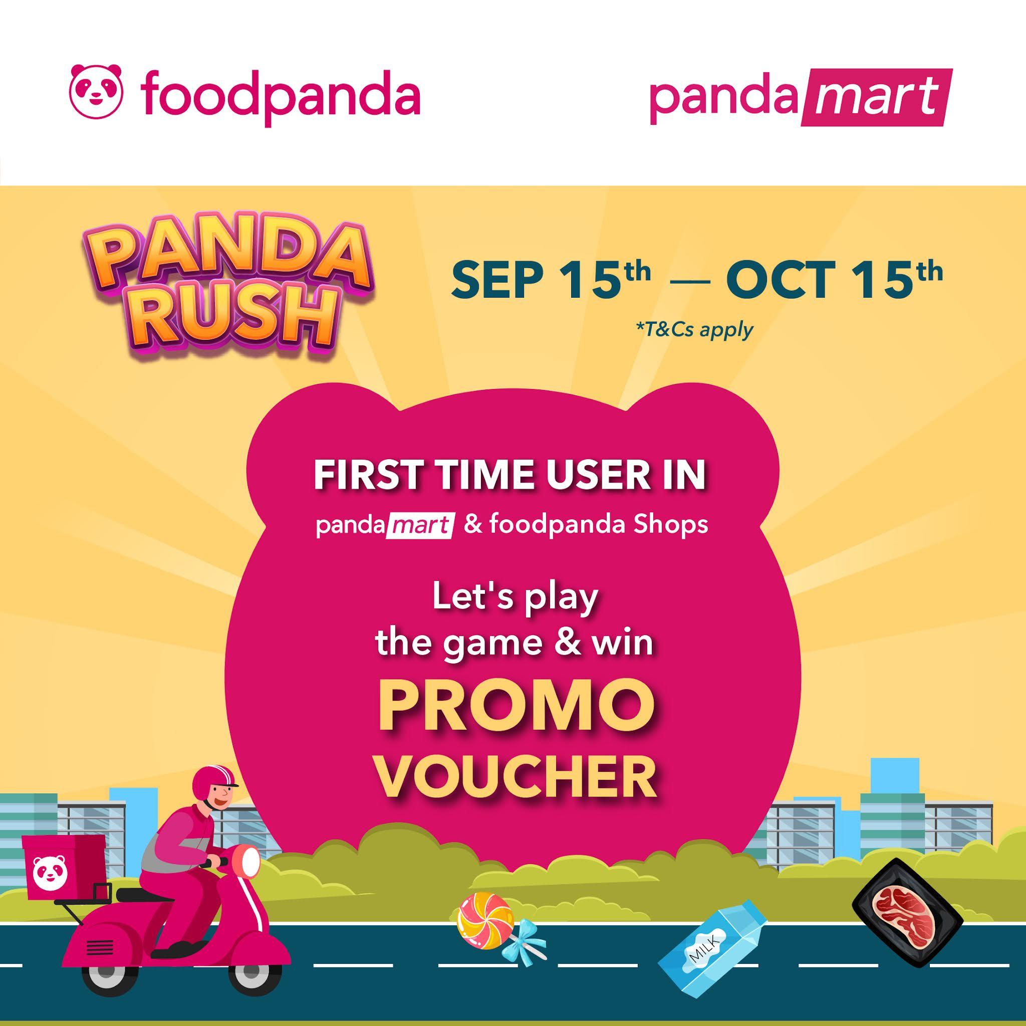 enjoy digital discounts for pandamart & foodpanda shops and win foodpanda merchandise