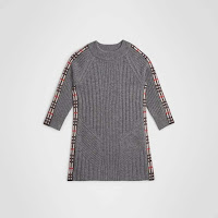 Check Detail Wool Cashmere Dress