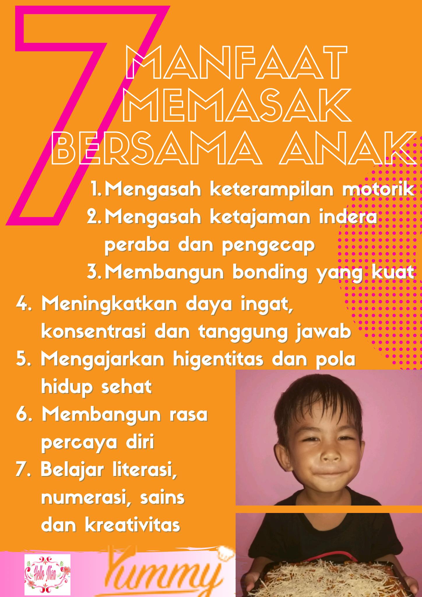 7 manfaat masak bareng anak