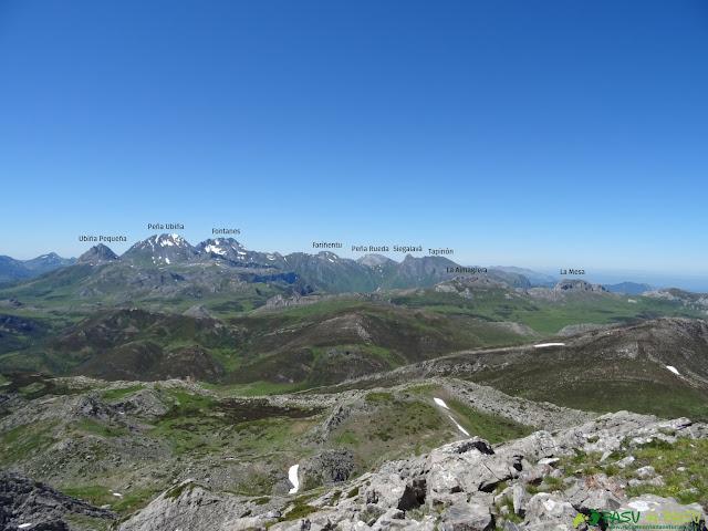 Vista desde el Cirbanal a la zona de Ubiña