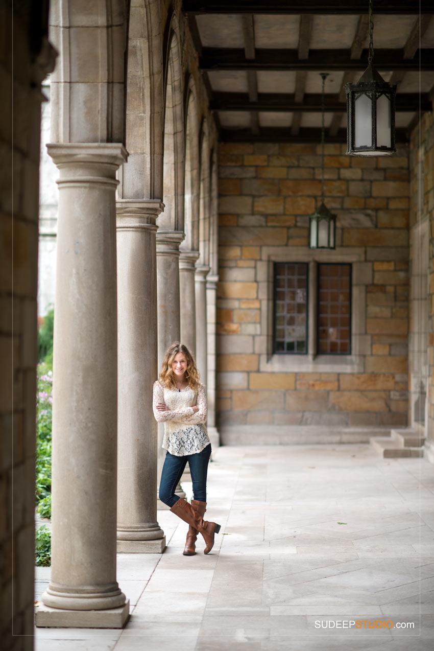 Pioneer High Senior Pictures Girl poses Ann Arbor - Sudeep Studio.com