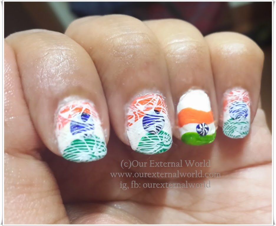 Independence Day Nail Art - Let The Tri-Color Inspire You