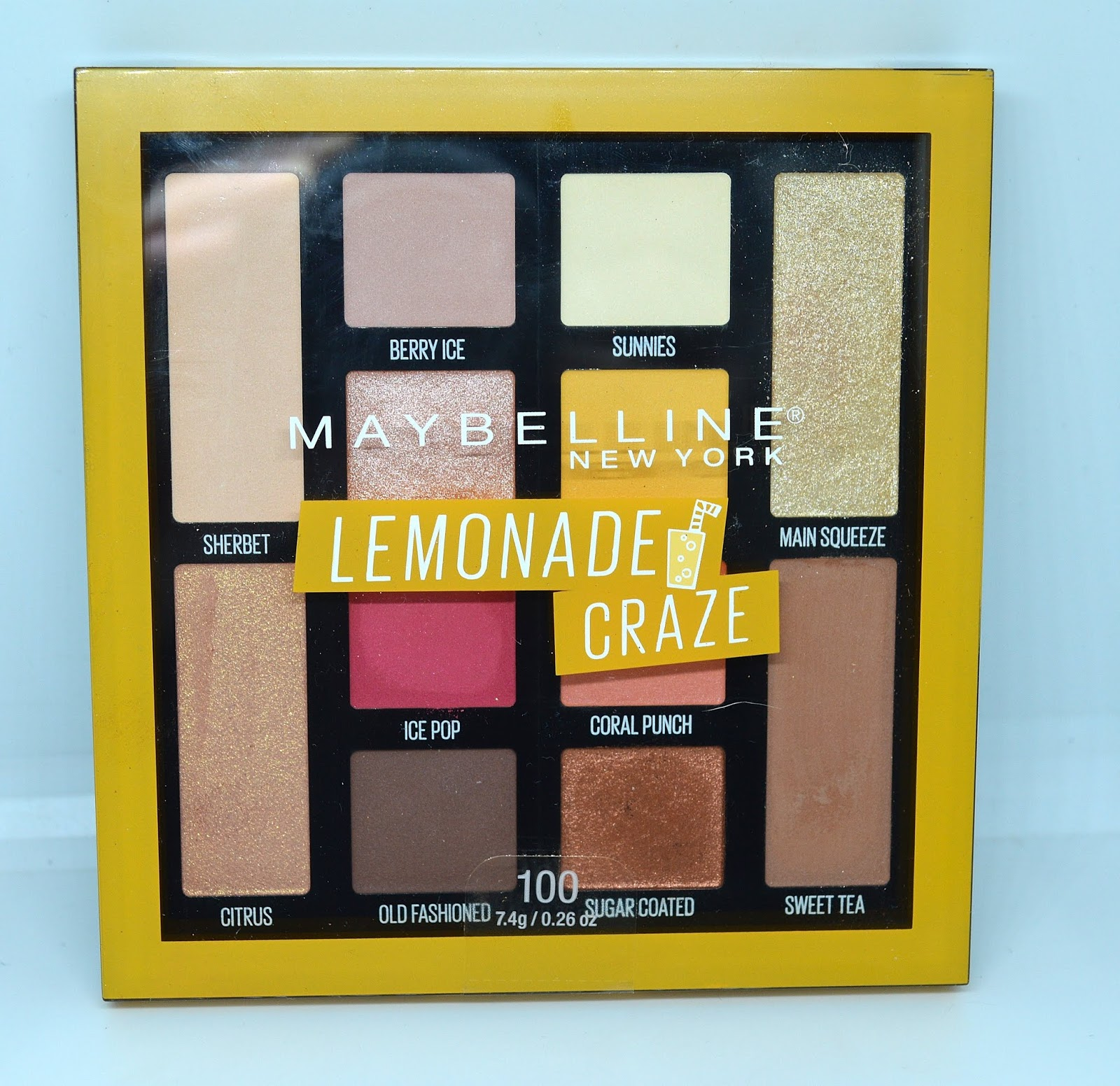2e26fcd679e Product Review -- Maybelline Lemonade Craze Eyeshadow Palette and Burgundy  Bar Eyeshadow Palette