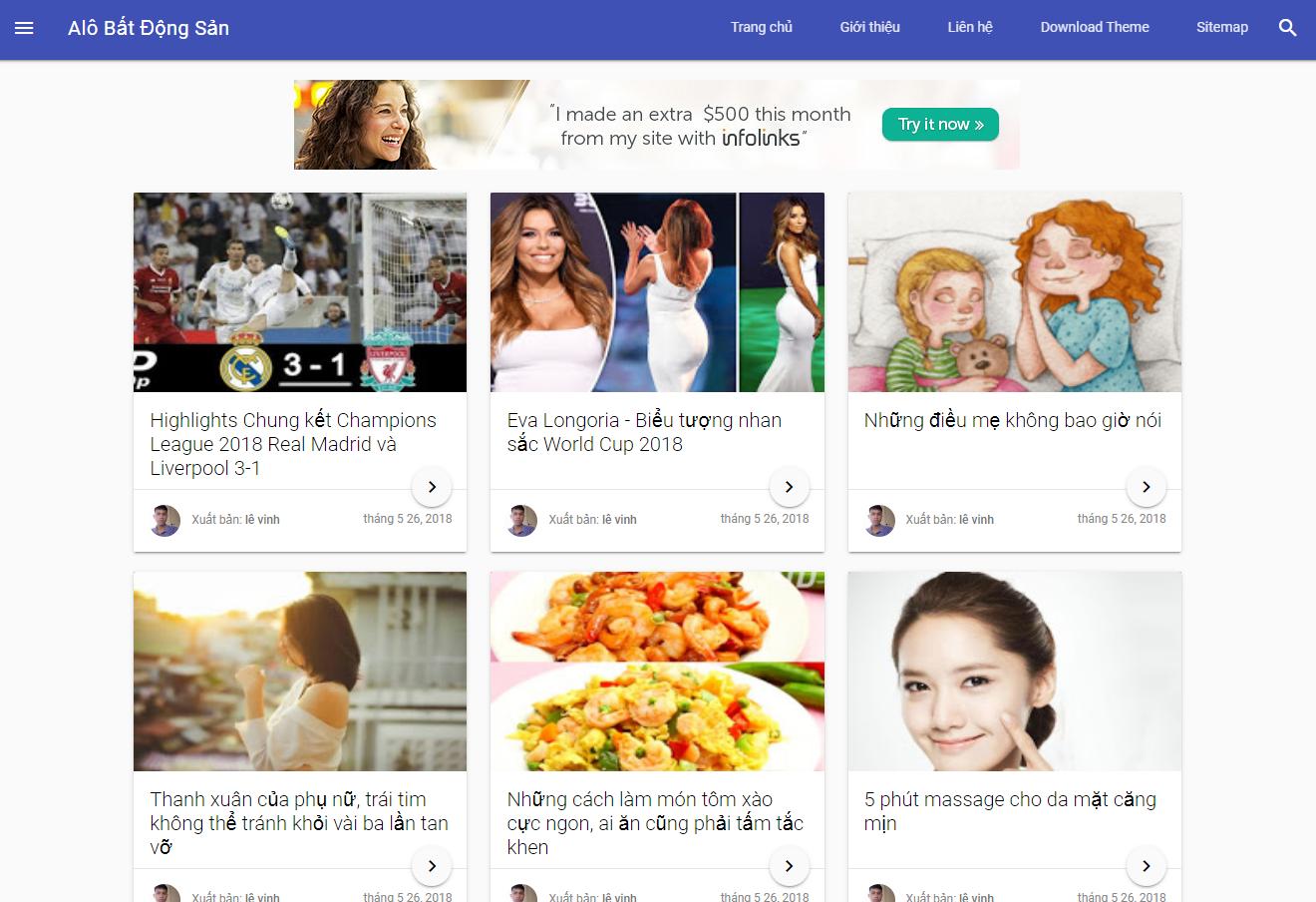 Template Blogspot Alo Bất Động Sản Tinh Tế Đơn Giản, Chuẩn SEO, Tải Nhanh
