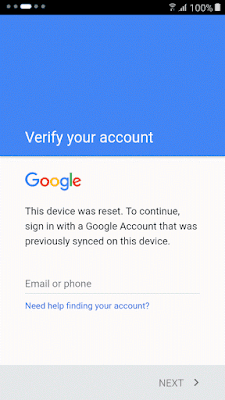 Bypass FRP Verify Your Account