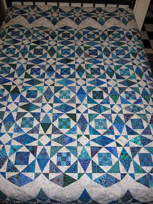 Quilting land storm at sea quilt for Storm at sea quilt template
