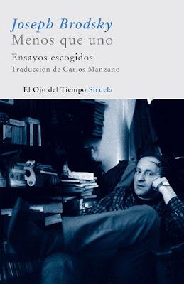 Portada del libro Menos que uno, de Joseph Brodsky. Siruela, 2011