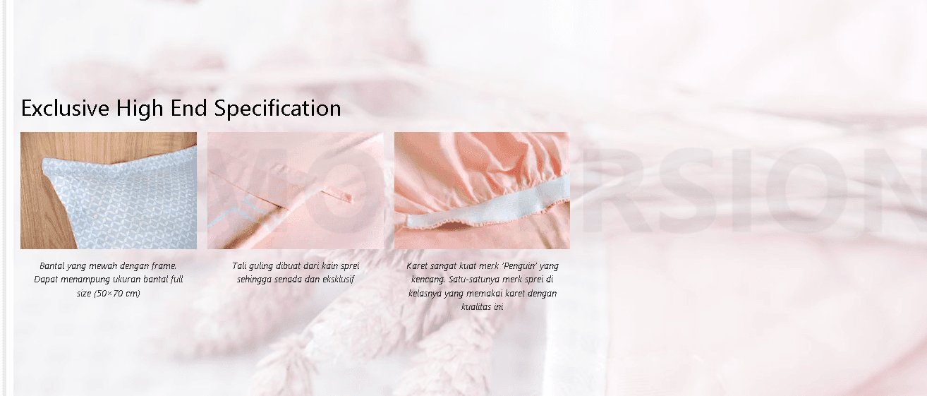 fitur eksklusif leven cotton