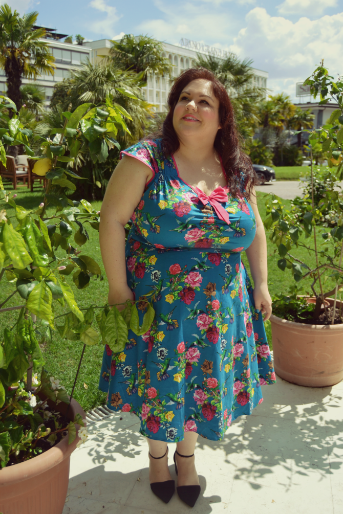 abito plus size lady vontage london pinup