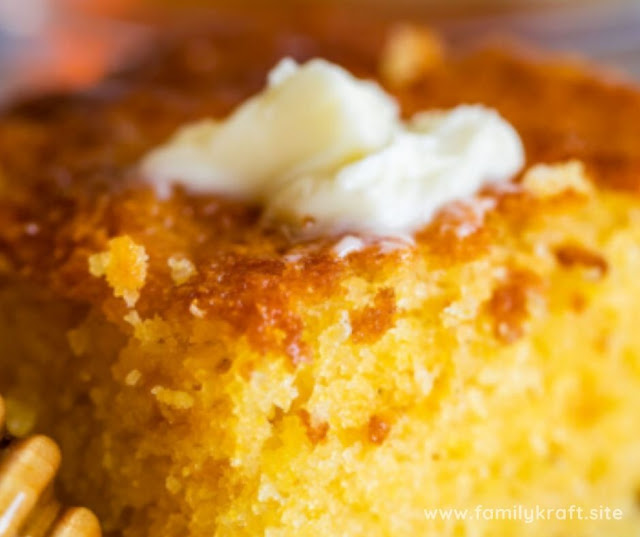 EASY SWEET AND MOIST HONEY CORNBREAD