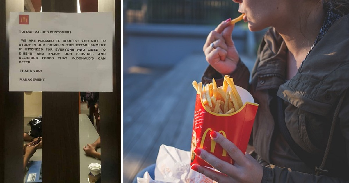 McDonald's Dumaguete retracts 'study ban' after facing backlash from netizens