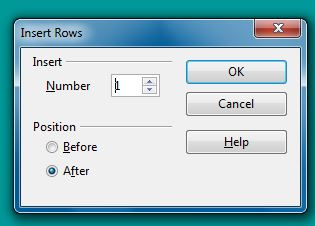 Insert rows dialog box in OO Writer 4.1.7
