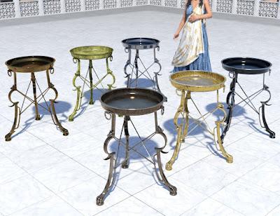 Roman Cauldron and Tripods