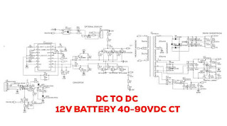 TL494 DC TO DC STEP UP 12V TO 40-90VDC CT