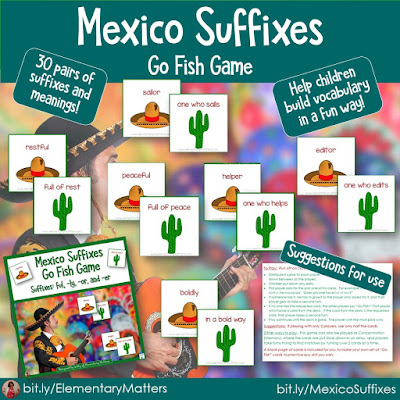 https://www.teacherspayteachers.com/Product/Suffix-Practice-Game-with-a-Mexico-Theme-238194?utm_source=Blog%20post%20may%20resources&utm_campaign=Mexico%20prefixes%20and%20suffixes