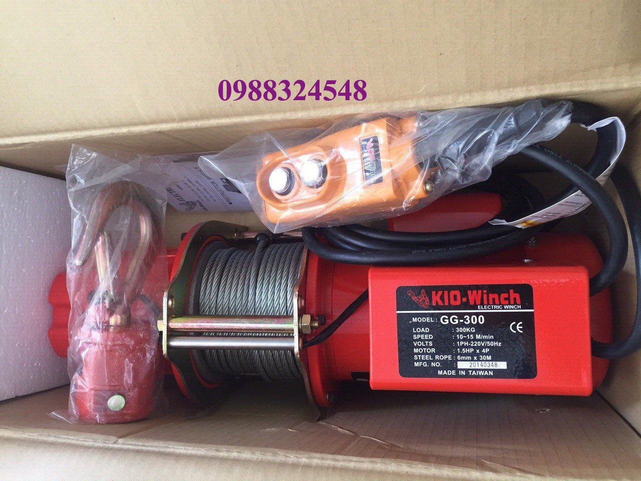 Tời cáp điện KIO GG-300 300kg