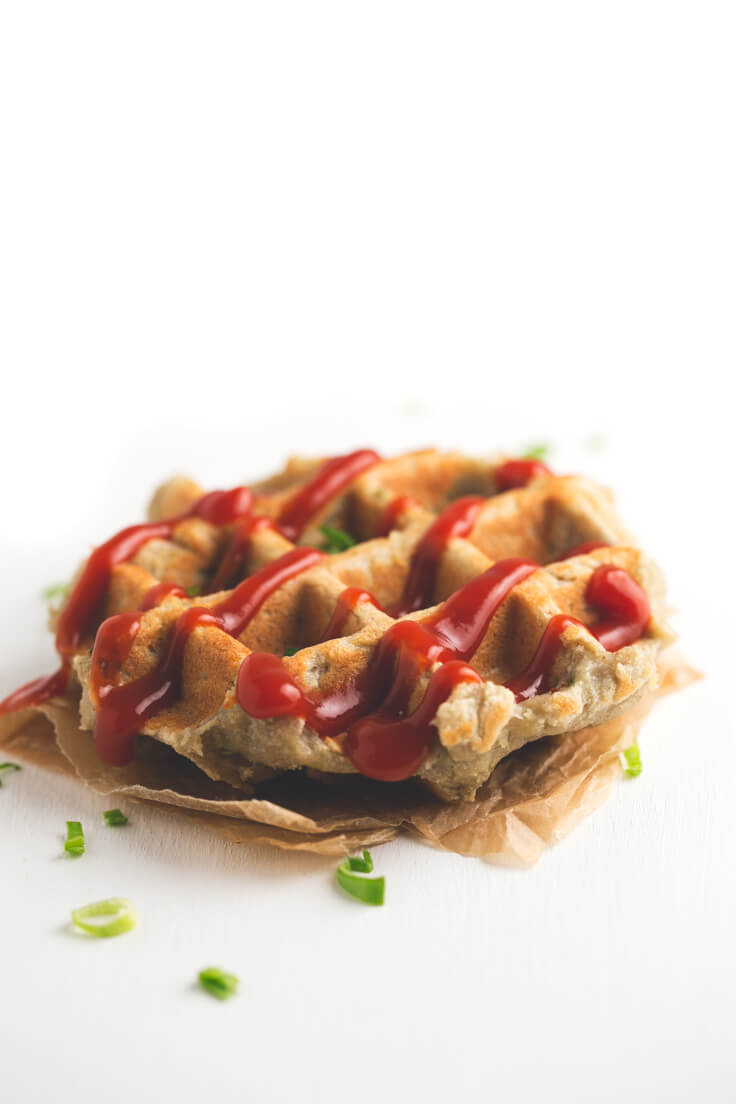 Vegan and Gluten-Free Potato Waffles - These vegan and gluten-free potato waffles are very healthy and nutritious and ideal to take in a lunch box to school or work. Also, Who can freeze them?