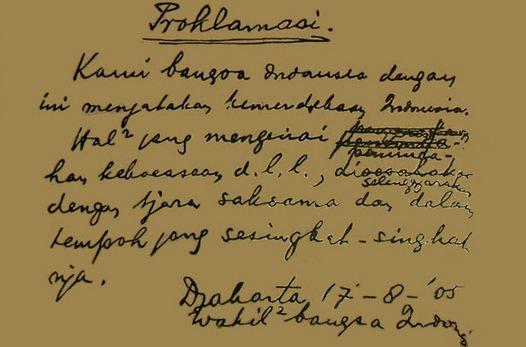 Pengertian Teks Proklamasi Kemerdekaan Indonesia 17 Agustus 1945