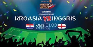 Jadwal Semifinal Piala Dunia 2018: Kroasia vs Inggris