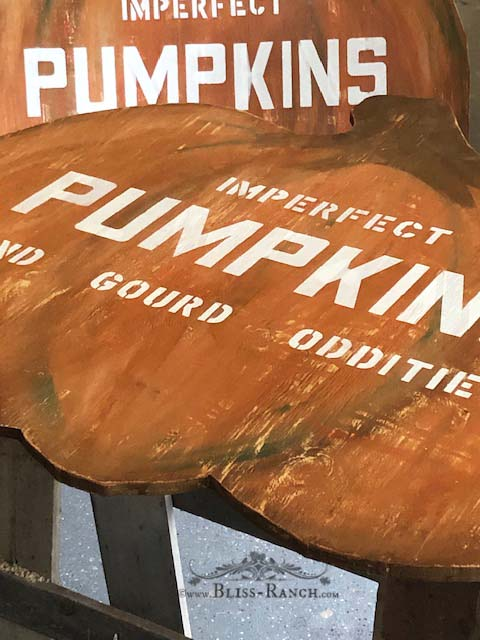 Pumpkin Sign, Bliss-Ranch.com