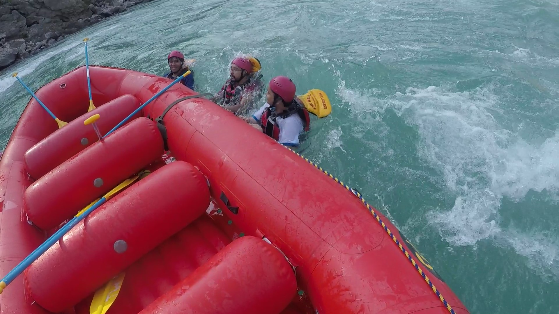 Enjoying Floating in River Ganga