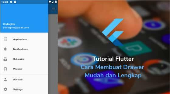 Tutorial Flutter Cara Membuat Drawer Mudah dan Lengkap