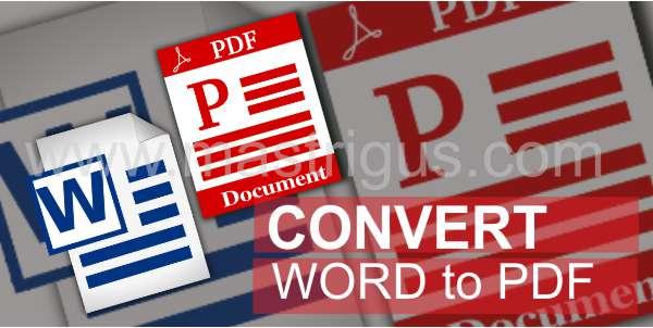 Cara Convert Microsoft Word 2013 to PDF