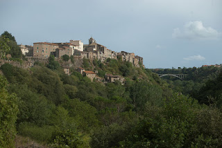 The town of Blera sits on top of a rocky ridge in northern Lazio, some 78km (48 miles) north of Rome
