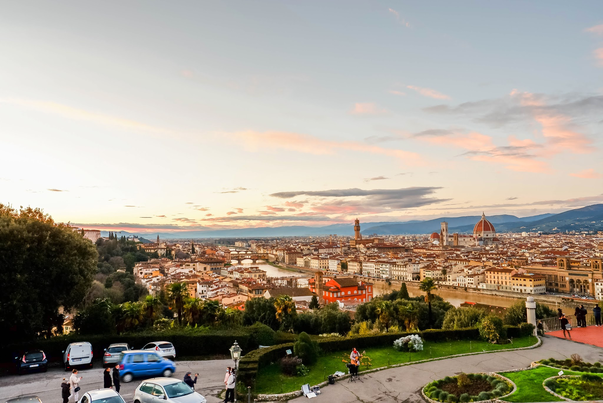 Piazzale Michelangelo florence italy, florence italy, sunset in florence italy, panoramic view florence