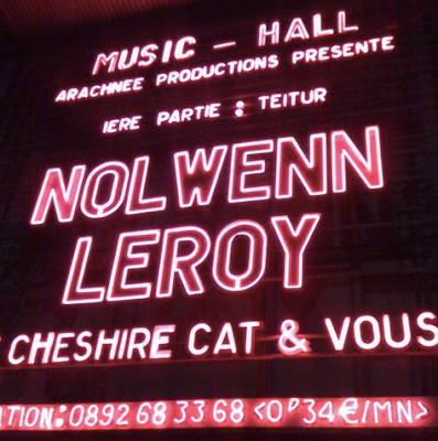 concert de Nolwenn Leroy à l'Olympia Le Cheshire cat & vous