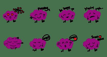 LINE Creators' Stickers - purple cloud emoji