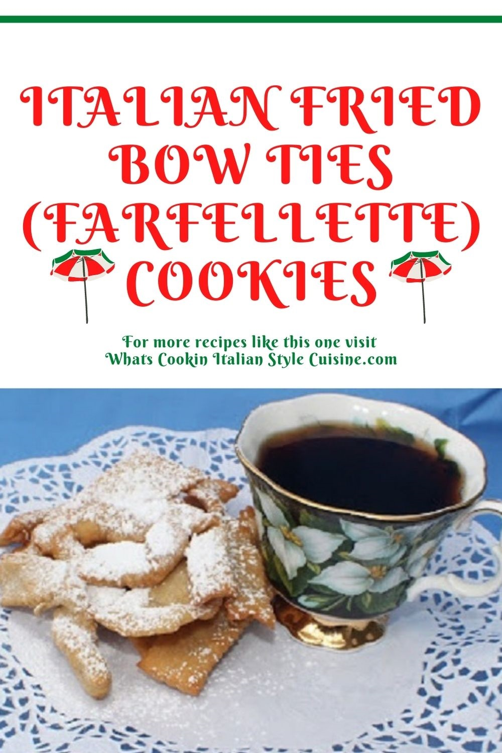 these are bow ties cookies that are fried pin for later