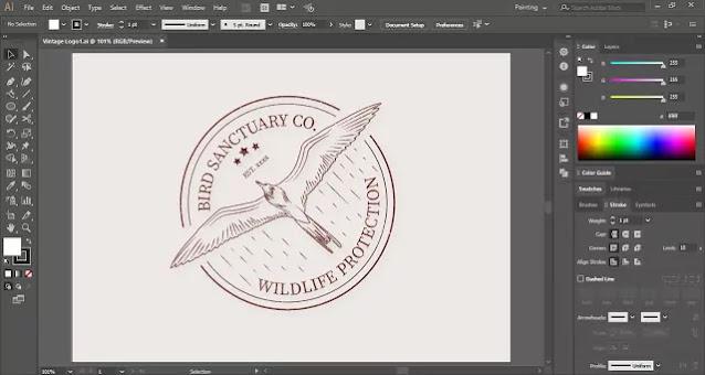 Vintage Logo in Adobe Illustrator
