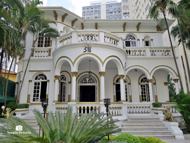 Vista ampla da Mansão Hasbaya - Bela Vista - São Paulo
