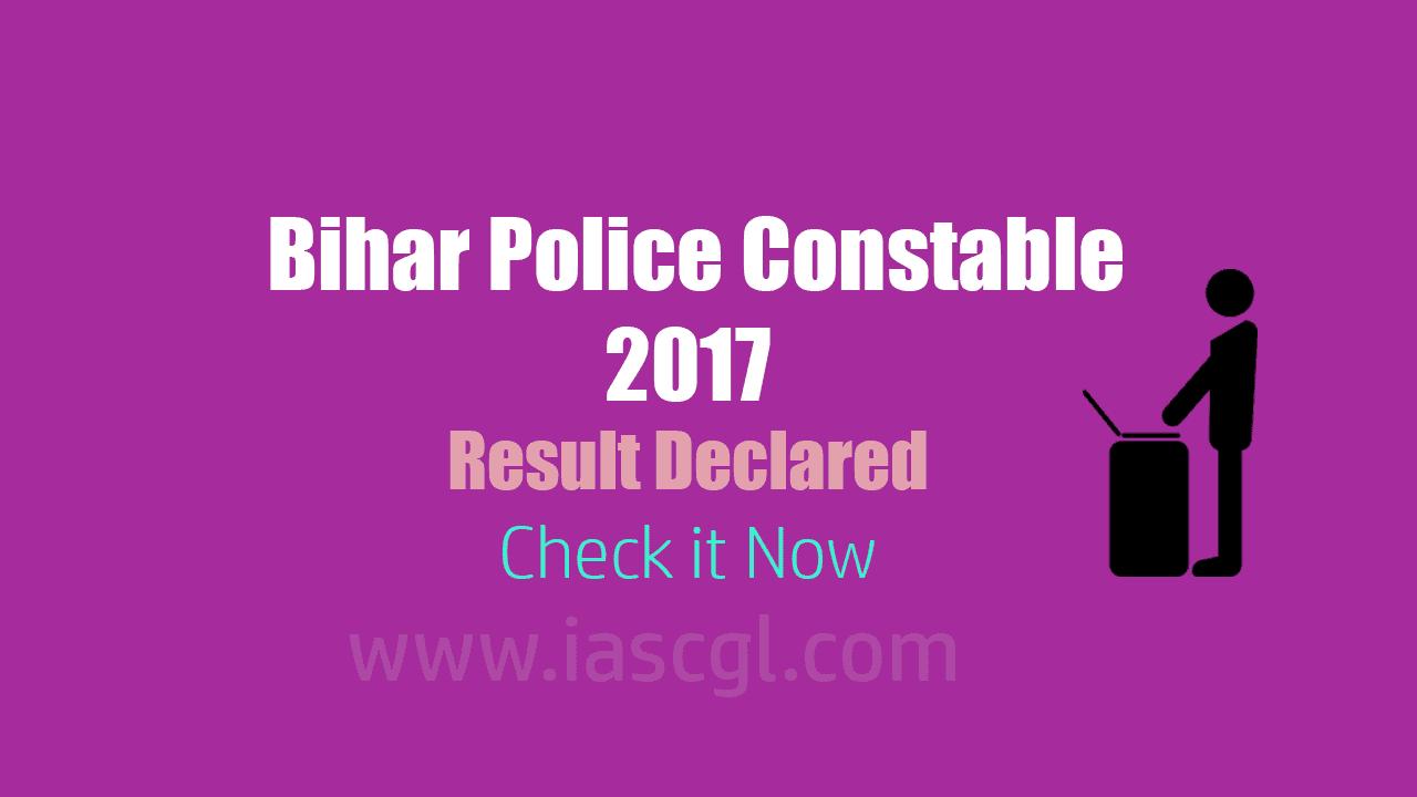 CSBC Bihar Police Result