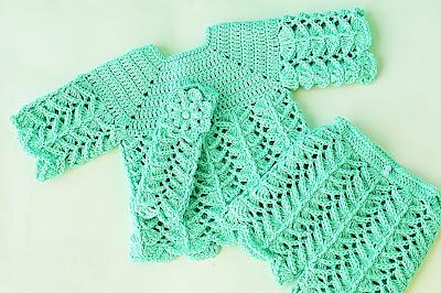 3 - Crochet IMAGEN Pantalón a juego con chambrita a crochet muy fácil y rápida. MAJOVEL CROCHET