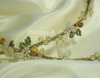Greek wedding crowns stefana with beads and roses Ν634